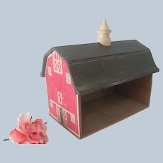 Old Vintage Wooden Toy Barn Dollhouse C1930