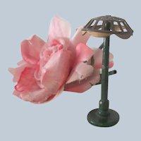 Vintage 1930's Miniature Metal Tootsie Toy Art Deco Dollhouse Lamp