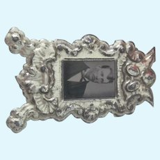 Old Victorian Metal Dollhouse Miniature Picture Frame