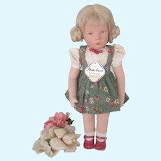 Vintage Kathe Kruse Girl Doll German US Zone 1960