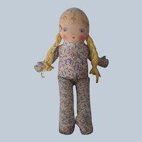 Vintage 1940's Georgene Averil Madame Hedren  Cloth Doll