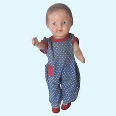 Vintage 1930's - 40's Composition Toddler Doll