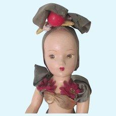 Vintage 1930's - 40's Composition Carmen Miranda Type Doll