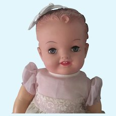 Vintage Unplayed with Vinyl Baby Doll with Hang Tag c1950