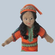 Vintage Cloth Norah Wellings Native american Indian Doll