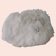 Old Vintage Child or Doll's White Rabbit Fur Winter Muff
