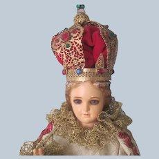 Vintage Santos Statue Religious Doll Italian Catholic Ceramic c1950's