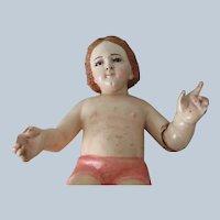 Antique Italian Baby Jesus Creche Figure Doll c1800