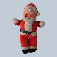 Vintage 1950's Stuffed Santa Claus Doll