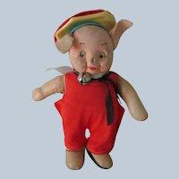 Vintage Pig Doll Toy c1940's - 50's