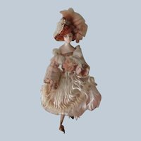 Antique Wax Fashion Doll c1900