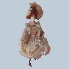 Antique Wax Fashion Doll c1900