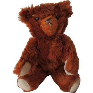 Antique Knickerbocker?Cinnamon Mohair Teddy Bear c1910
