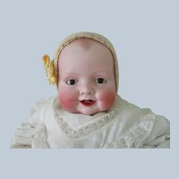 "Antique Bisque Georgene Averill Bonnie Bebe Doll Large 22"""