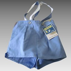 Vintage French Toddler Boy's Shorts 1960's French Old Store Stock Suspenders Size 18 Months