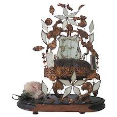 Antique French Ormolu Wedding Bridal Cushion Stand Globe de Mariee c1880