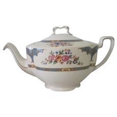 Old English Johnson Brothers Floral Porcelain Teapot Belgravia Pattern