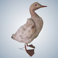 Antique German Spun Cotton Easter Duck Toy Ornament