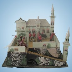 Vintage German Gottschalk Toy Castle Dollhouse c1920