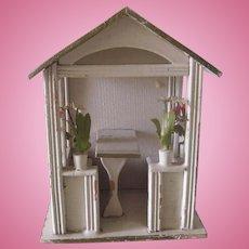 Antique Gottschalk Miniature German Dollhouse Gazebo Pavillion c1900