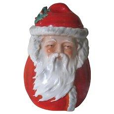 RESERVED! Extremely Rare Antique Royal Bayreuth Porcelain Figural Santa Claus Humidor Tobacco Jar c1900