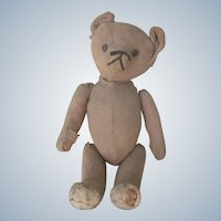 Antique Primitive Teddy Bear w/ Hump Back c1915 Doll Companion