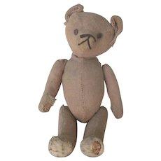 Antique Primitive Teddy Bear w/ Hump Back c1915 Doll Companion