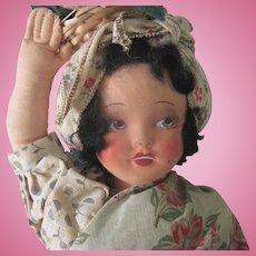 Vintage Cloth Ethnic Doll c1940
