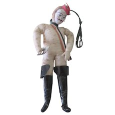 Reserved! Antique German Spun Cotton French Soldier Christmas Ornament Decoration Doll