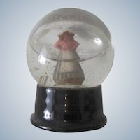 Old Christmas Snow Globe Decoration with Dutch Girl C1920