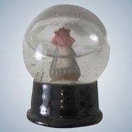 Old Christmas Snow Globe Decoration with Dutch Girl C1920