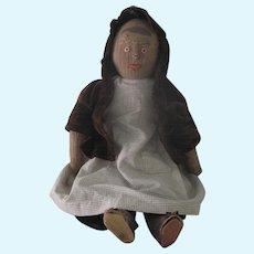 "Antique Primitive Hand Sewn Cloth Rag Doll 22 1/2 "" Tall"