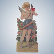 Large Vintage 1930's Cupid German Valentine Card