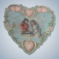 Old Victorian Embossed Valentine Card