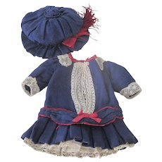 Antique Factory Made Dress and Hat Set