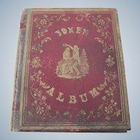Old Pre Civil War Era Token Album with Etchings