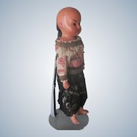 Antique German Made Compostion Oriental Chinese Doll c1890