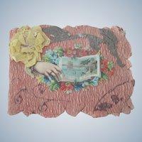 Sweet Old Victorian Handmade Valentine Card Booklet c1900