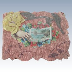 Sweet Old Victorian Handmade Valentine Card Booklet c1900