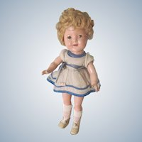 """Vintage 11"""" Composition Shirley Temple Doll c1930"""