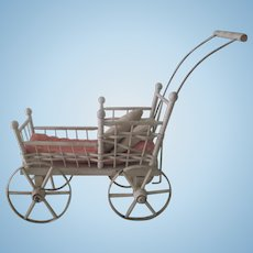 Old Victorian Baby Doll Carriage Buggy