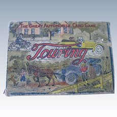 Old Parker Brothers Automobile Car Touring Card Game Toy c1906