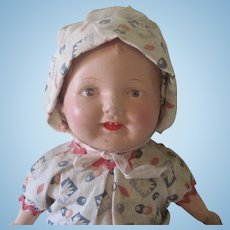 Vintage Composition Baby Doll with Provenance c1925