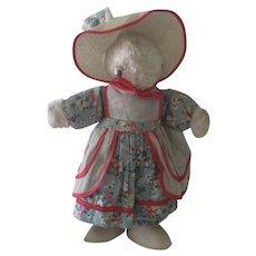 Vintage 1940's Bunny Rabbit Doll Stuffed Toy