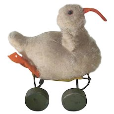 Old Vintage Steiff Duck Pull Toy c1940