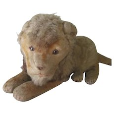 Old Early Vintage Lion Stuffed Doll Toy C1915