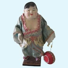 Old Vintage Papier Mache Jolly Chinese Doll C1930