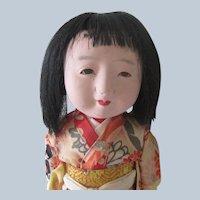 Old Vintage Japanese Ichimatsu Gofun Geisha Doll c1930