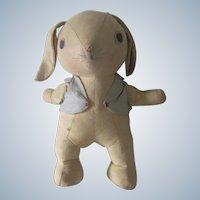 Vintage Stuffed Bunny Rabbit Doll Toy C1930