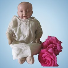 Antique Horsman Baby Bumps Cloth and Compostion Doll c1910